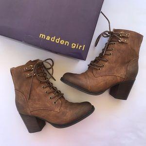 Madden Girl Cognac Westmont Boots
